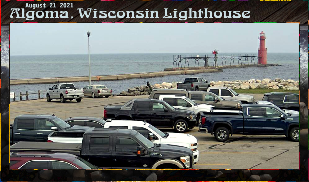 Algoma Wisconsin Lighthhouse August 21 2021 Afternoon